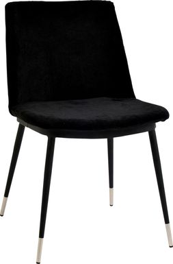 Quannah Black Dining Chair, Set of 2