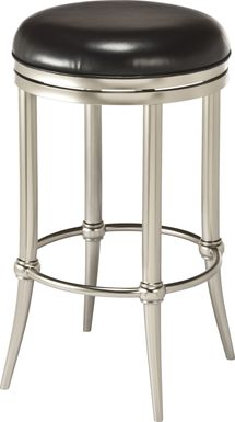 Quantock Black Swivel Counter Height Stool