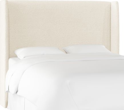 Quinella White Full Upholstered Headboard