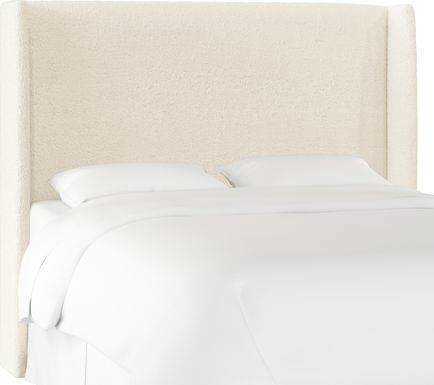 Quinella White King Upholstered Headboard