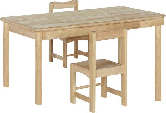 Raddix Natural 3 Pc Toddler Table Set