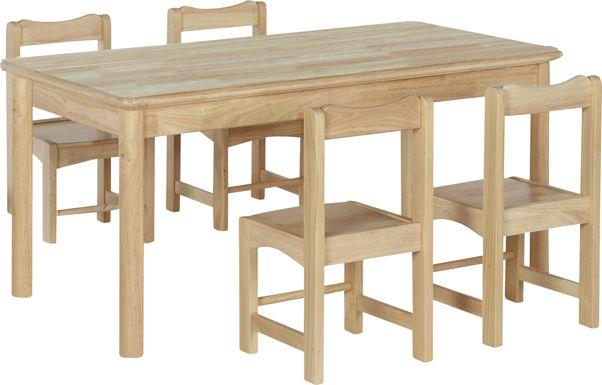 Raddix Natural 5 Pc Toddler Table Set