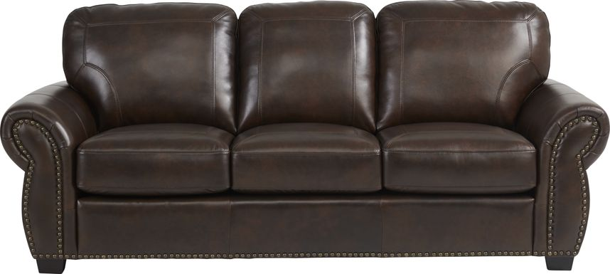 Rapallo Mahogany Leather Gel Foam Sleeper