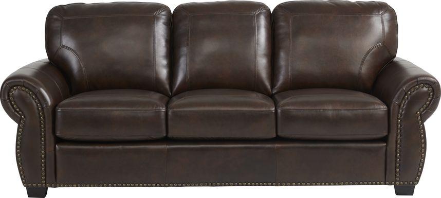Rapallo Mahogany Leather Gel Foam Sleeper