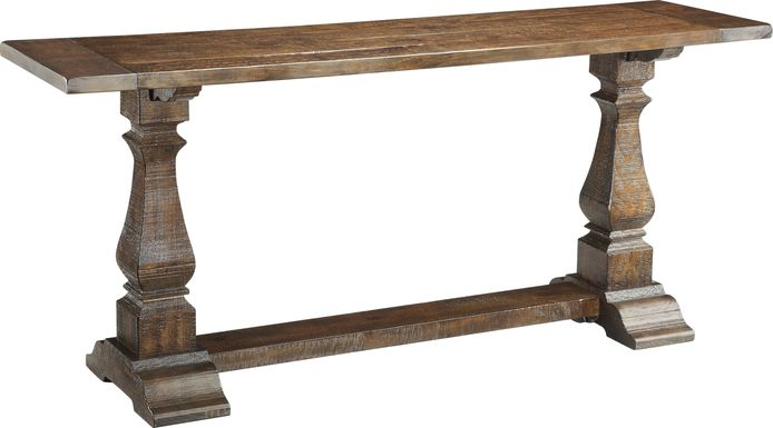 Raston Brown Sofa Table