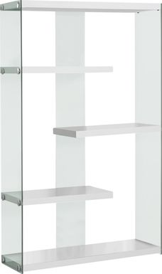 Ravine White Bookcase