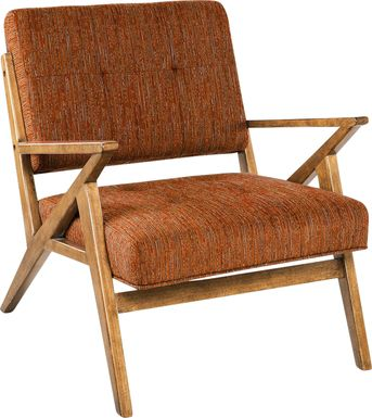 Rawlins Orange Accent Chair