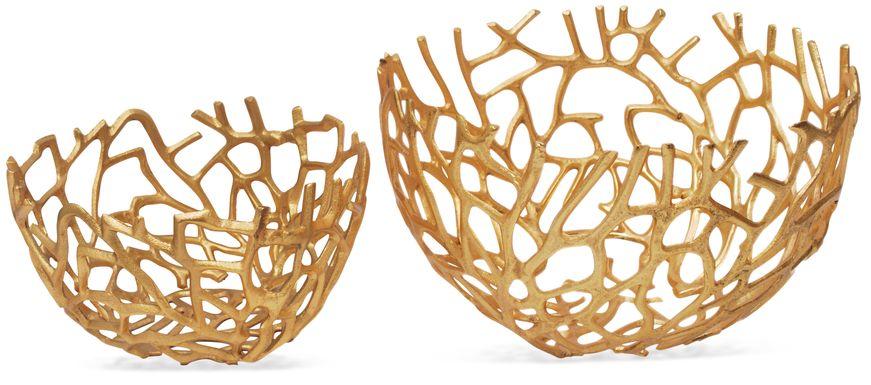 Rayker Gold Set of 2 Bowls