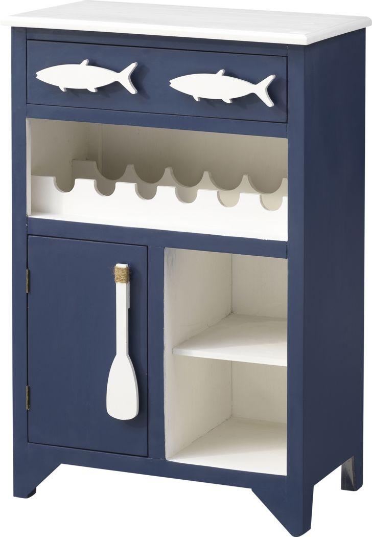 Raynale Blue Bar Cart