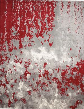 Red Sky Red 9'9 x 13'9 Rug