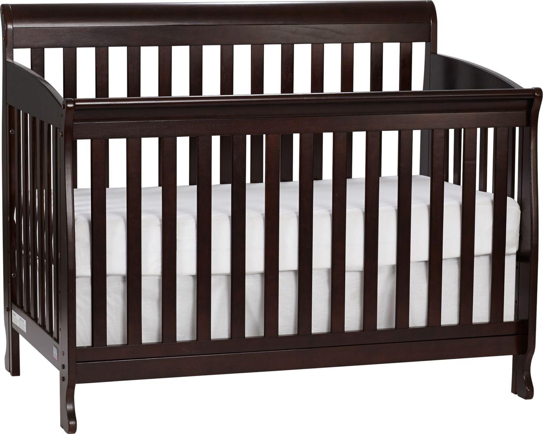 Reena Espresso Convertible Crib with Toddler Rail
