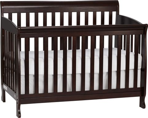Reena Espresso Convertible Crib with Toddler Rail