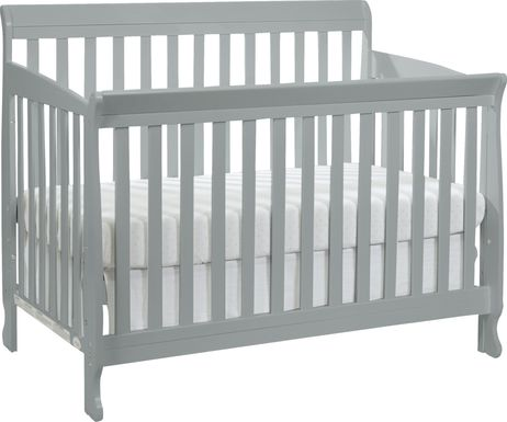 Reena Gray Convertible Crib with Toddler Rail