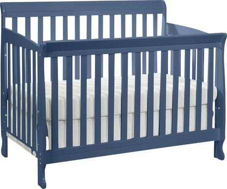 Reena Navy Convertible Crib with Toddler Rail