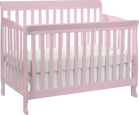 Reena Petal Pink Convertible Crib with Toddler Rail
