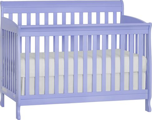 Reena Lilac Convertible Crib with Toddler Rail