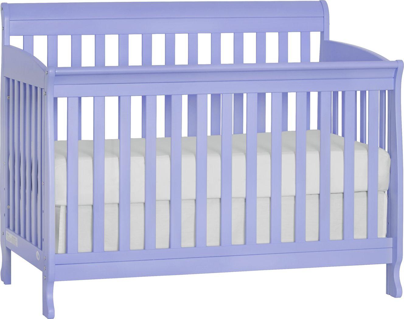 Reena Lilac Convertible Crib with Toddler Rail