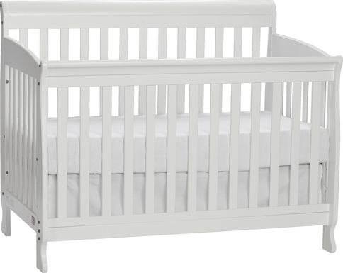 Reena White Convertible Crib with Toddler Rail