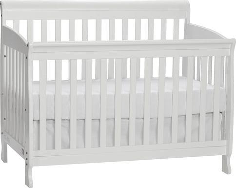 Reena White Convertible Crib with Toddler Rail