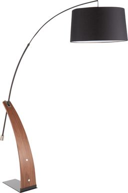 Restgate Walnut Floor Lamp
