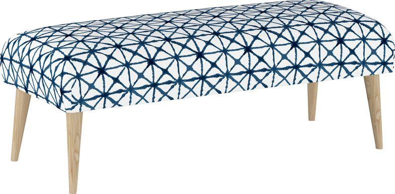 Rhombusland Blue Accent Bench