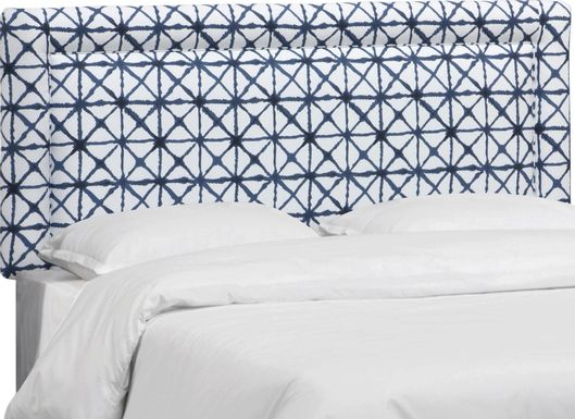 Kids Rhombusland Blue Full Upholstered Headboard