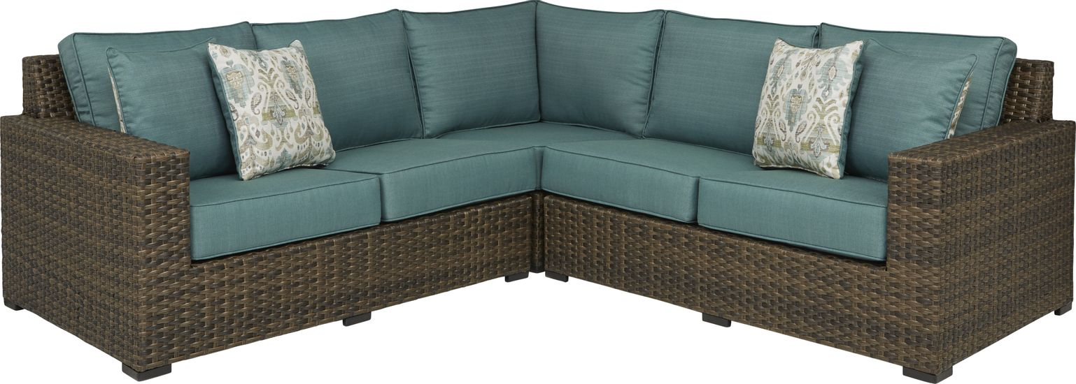 rialto-brown-3-pc-outdoor-sectional-with-aqua-cushions