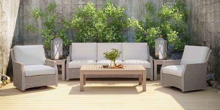 Ridgecrest Gray 4 Pc Outdoor Seating Set