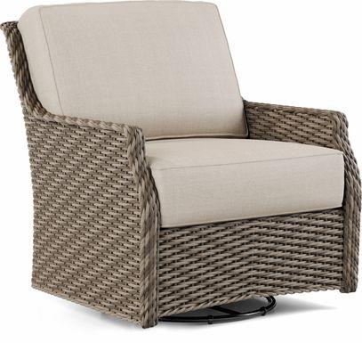 Ridgecrest Gray Outdoor Swivel Chair
