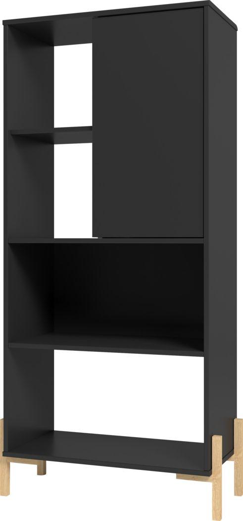 Ridgesmill Black Bookcase