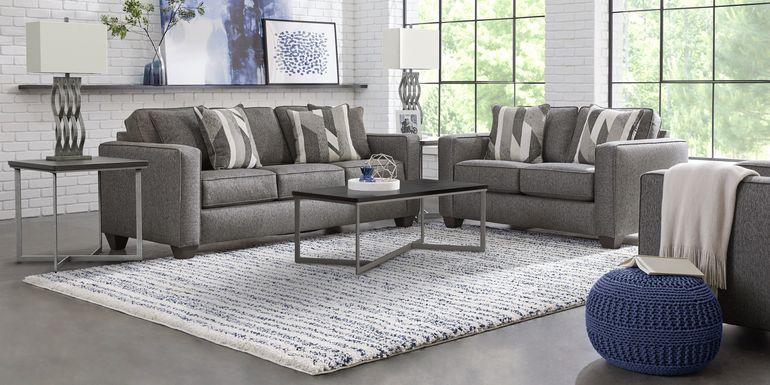 Ridgewater Graphite 2 Pc Living Room