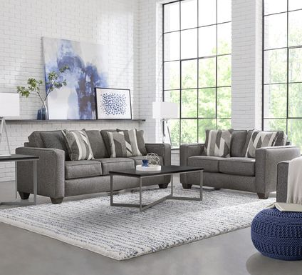 Ridgewater Graphite 7 Pc Living Room