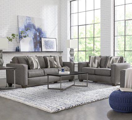 Ridgewater Graphite 8 Pc Living Room