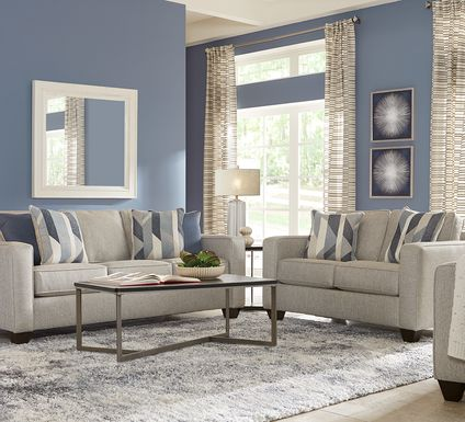Ridgewater Light Gray 2 Pc Living Room