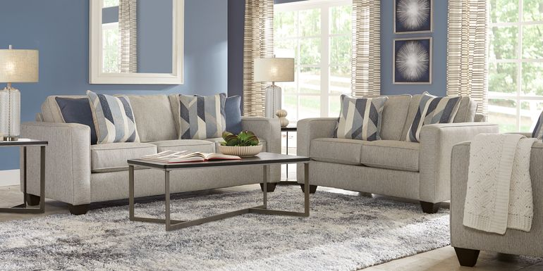 Ridgewater Light Gray 7 Pc Living Room
