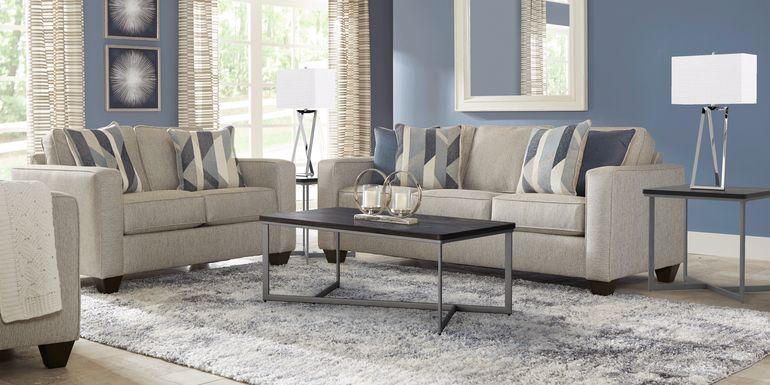 Ridgewater Light Gray 7 Pc Living Room