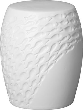 Riesner White Outdoor Stool