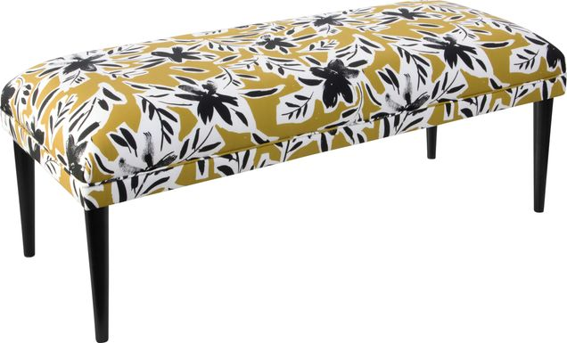Riona Yellow Accent Bench