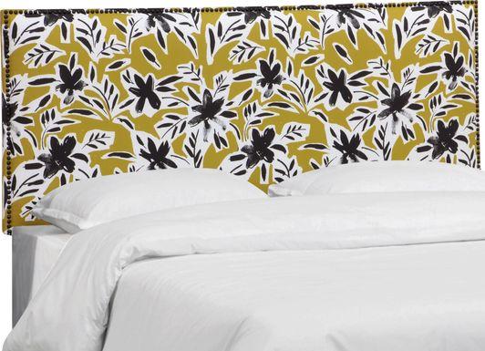 Riona Yellow King Upholstered Headboard