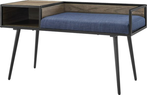 Rison Blue Accent Bench