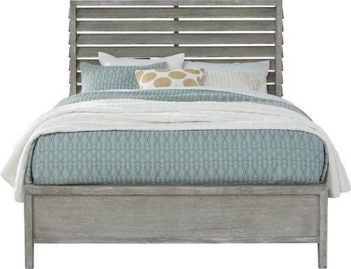 River Falls Light Gray 3 Pc King Panel Bed