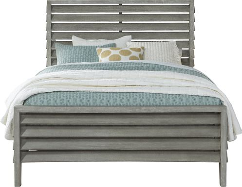 River Falls Light Gray 3 Pc Queen Slat Bed