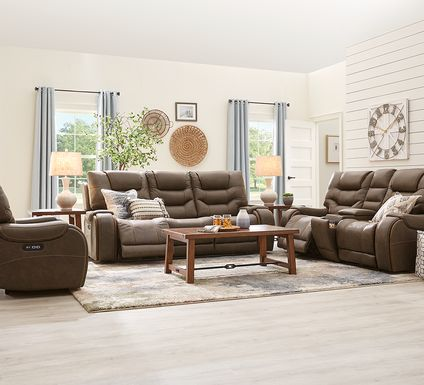 River Landing Brown 2 Pc Dual Power Reclining Living Room