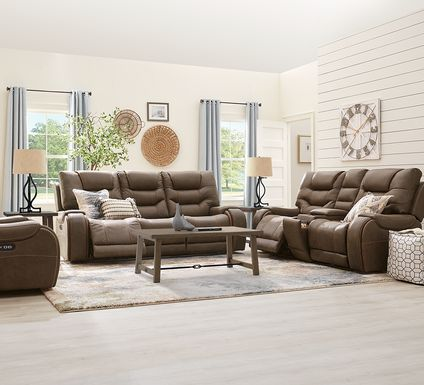 River Landing Brown 5 Pc Dual Power Reclining Living Room