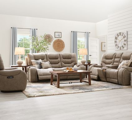 River Landing Gray 2 Pc Dual Power Reclining Living Room
