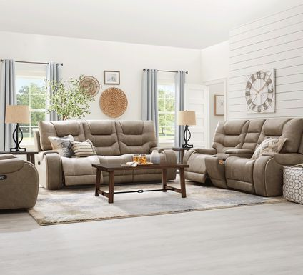 River Landing Gray 5 Pc Dual Power Reclining Living Room