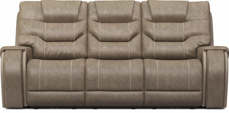 River Landing Gray Dual Power Reclining Sofa