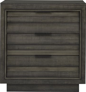 River Street Graphite 3 Drawer Chest