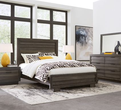 River Street Graphite 5 Pc King Panel Bedroom