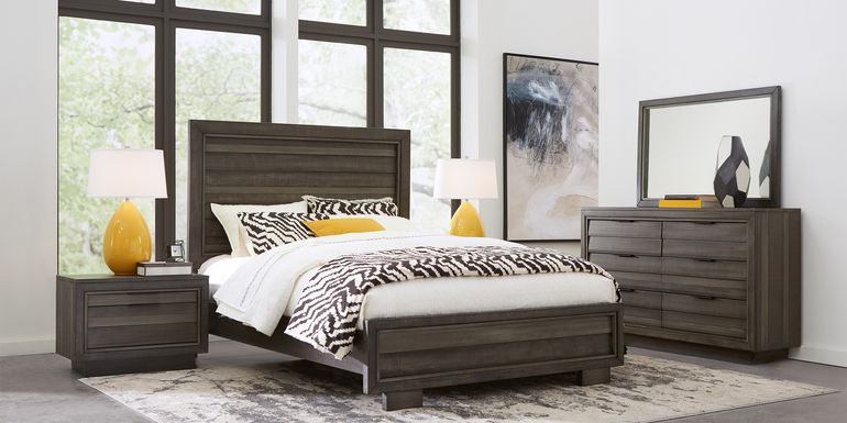 River Street Graphite 5 Pc King Panel Bedroom